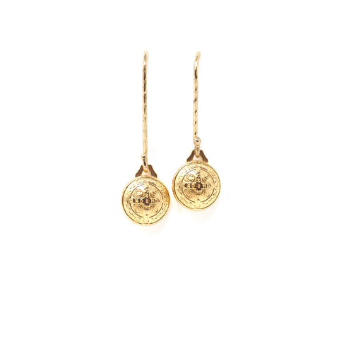 St. Benedict Gold Earrings - 100% Profits Donated