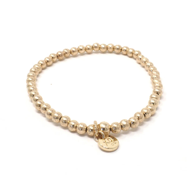 The Eternity Bracelet in Glittery Gold
