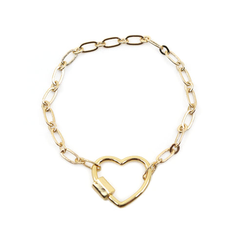 Take My Heart Link Chain Bracelet