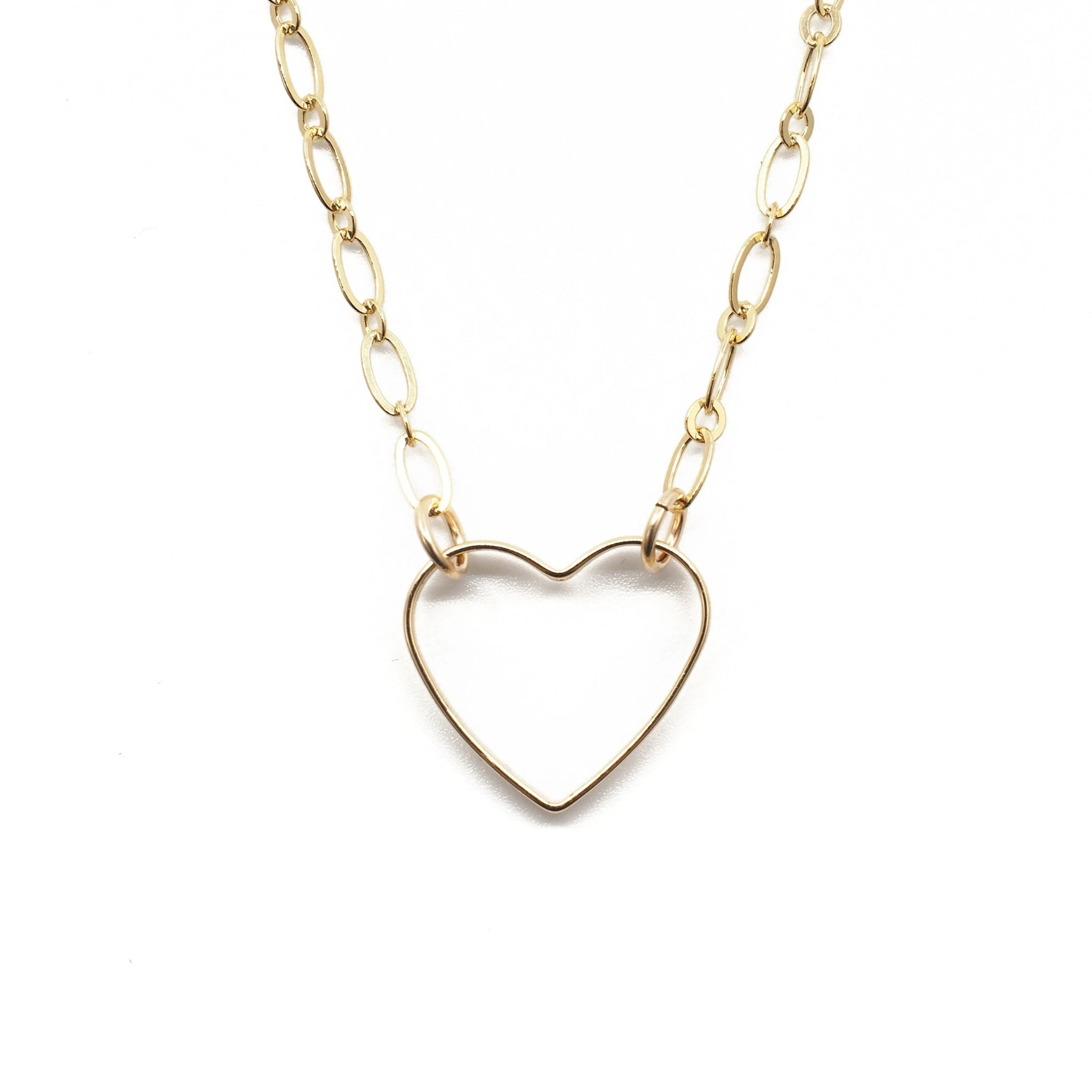 Open Heart Link Necklace