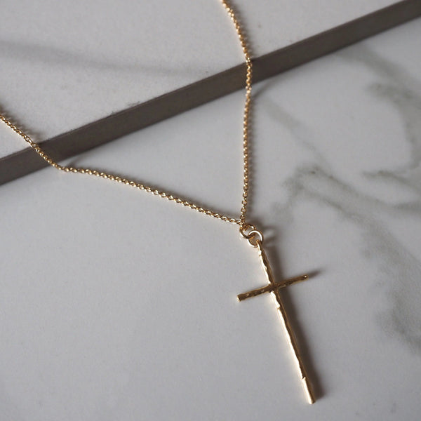 Gold Plated Cross My Heart Necklace