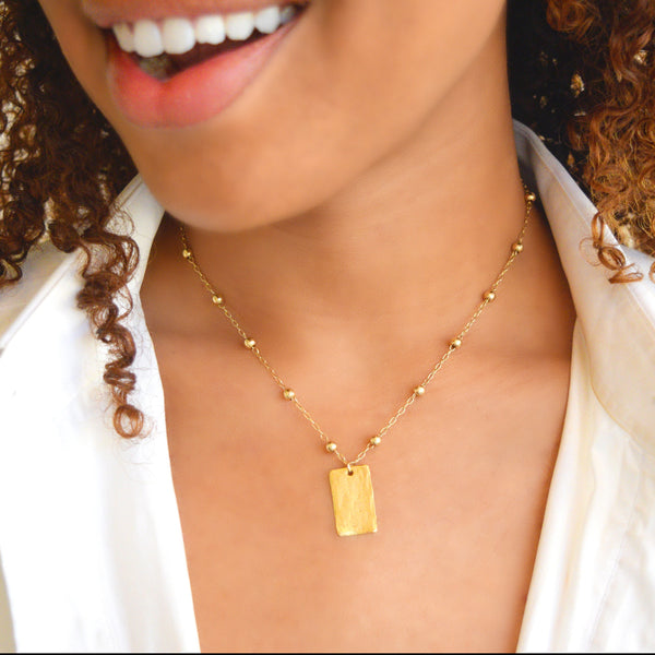 Golden Girl Necklace with Station Chain