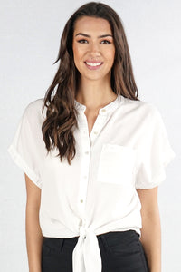 White Button-Up Blouse