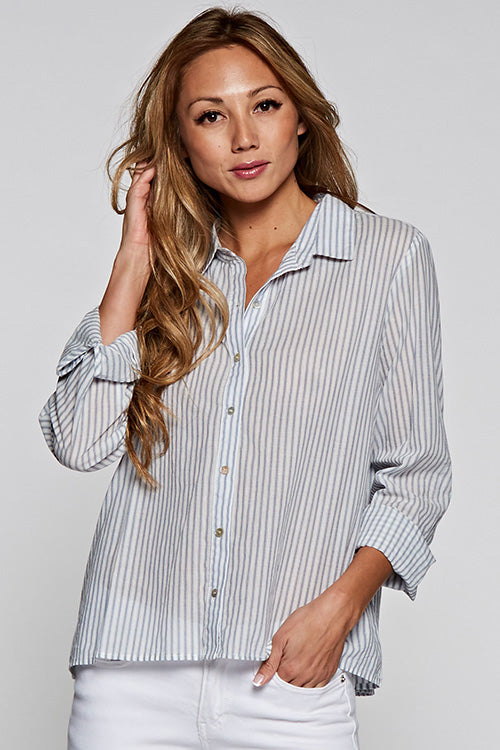Blue Stripe Button Down Shirt