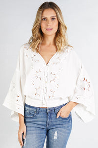 Starburst Cutout Top