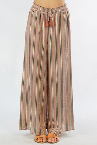Soft Stripe Flare Pants
