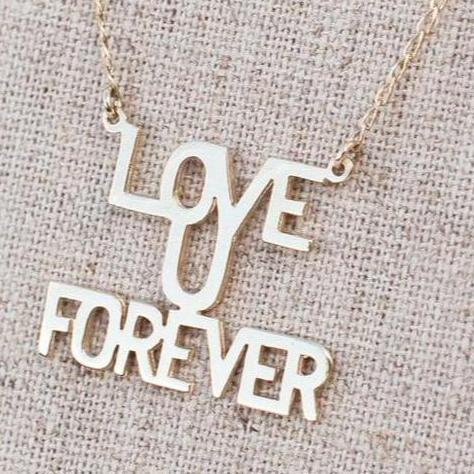 "Love You ""Forever"" - 10K Gold Necklace"