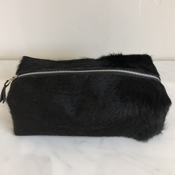 Leather Dopp Kit - Black Natural Cowhide