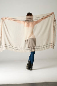 Rustic Beige Convertible Shawl