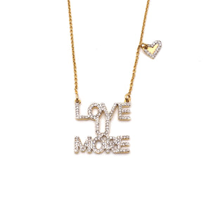 Love You More Sunrise Necklace in Diamonds & 14K Gold