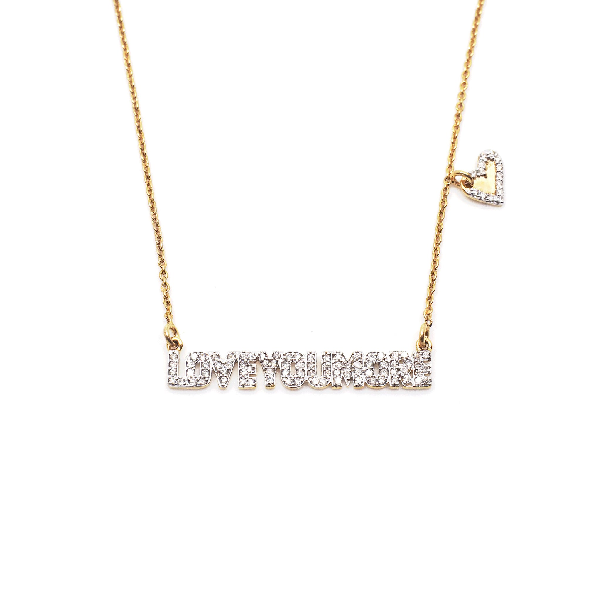 The Love Bar Necklace in White Diamond & 14K Gold