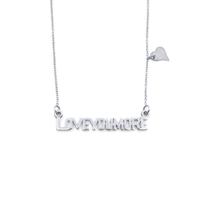 The Love Bar Necklace in Sterling Silver
