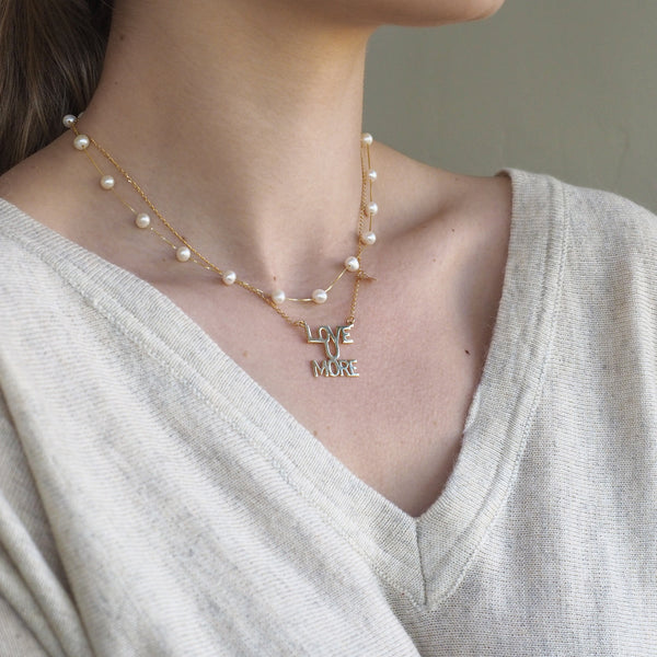 The Whitney Necklace in 10K Gold and Pearl