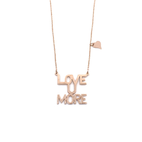 Love You More Sunrise Necklace in Rose Gold