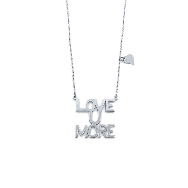 Love You More Sunrise Necklace in Sterling Silver
