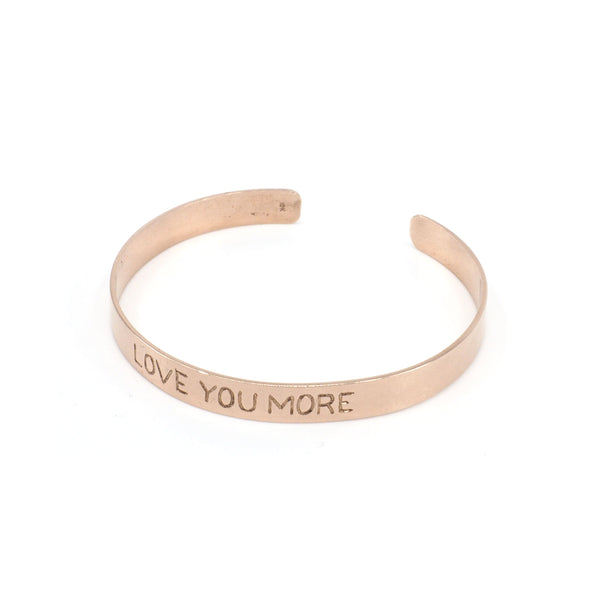 Love You More Cuff in Solid Gold or Silver