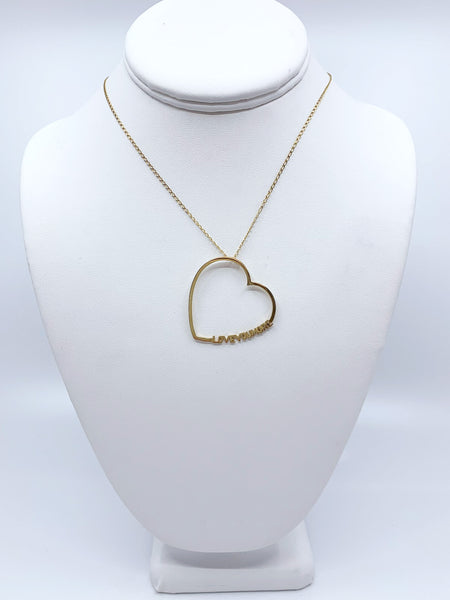 The Lucy Love Necklace in 10K & 14K Gold