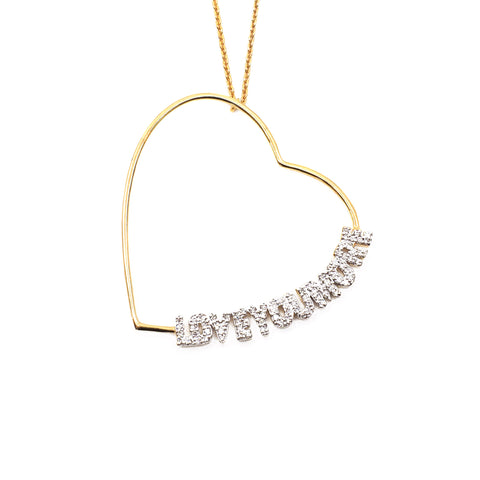 The Lucy Love Necklace in White Diamonds and Gold