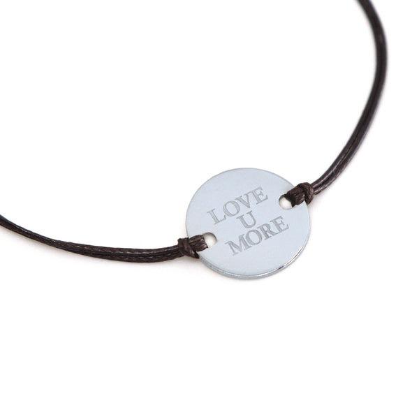 Savannah Cord Bracelet with Love You More Coin - 100% of Profits Donated