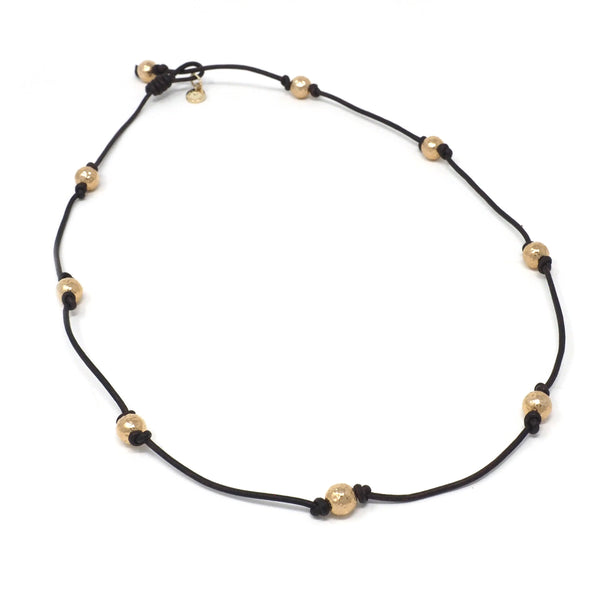The Victoria Necklace in Gold Multi Bead