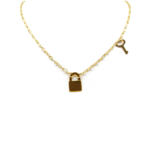 Lock of My Life Link Necklace