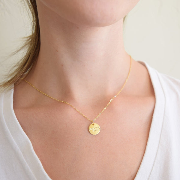Love You More Gold Coin Necklace - 100% Profits Donated