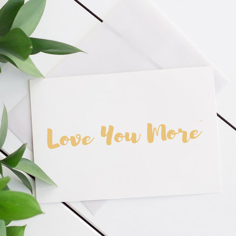 Love You More Gift Card