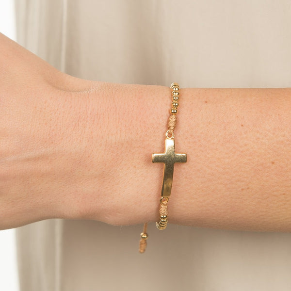The Faith Bracelet in Gold