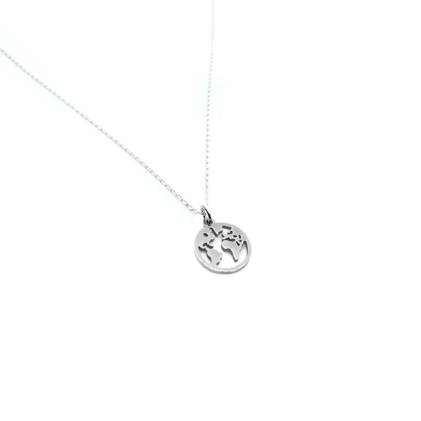 Love You More World Necklace in Silver -100% of Profits to Benefit Single Moms in Need