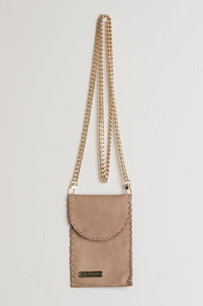 Cell Phone Crossbody Leather Bag - Concert Ready
