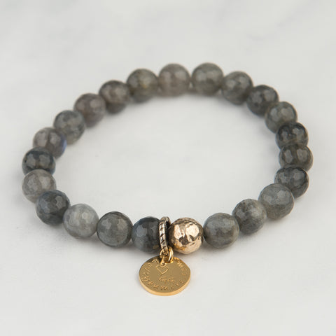 Labradorite Stackable Bracelet (8mm Beads)
