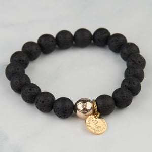 Black Lava Bracelet (10mm Beads)