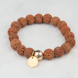 Orange Lava Bracelet (10mm Beads)