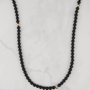 The Whitney Necklace in Black
