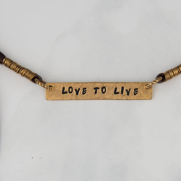 Love to Live Wrap Necklace