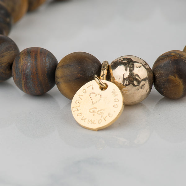 The Luna Bracelet in Tigers Eye
