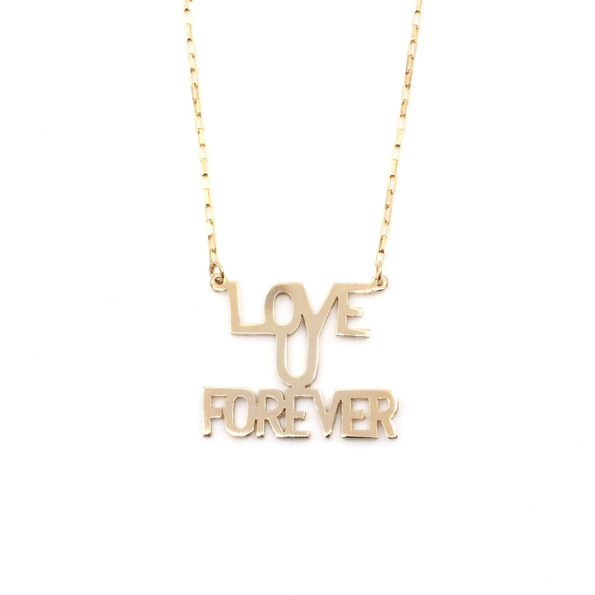 Love You Forever Sunrise Necklace in 10K & 14K Gold