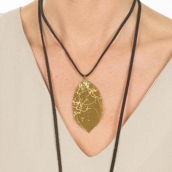 Gold Leaf Wrap Necklace