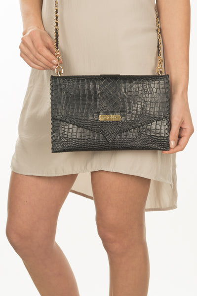 Textured Crossbody Clutch