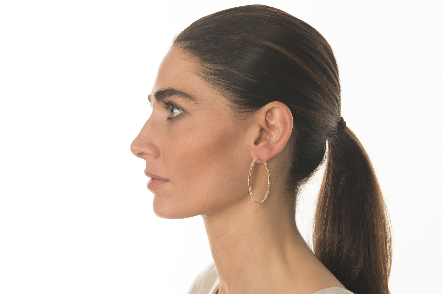 Classy Medium Hoop Earrings