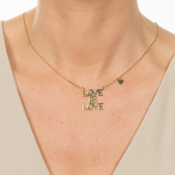 Love is Love - 10K Gold Necklace