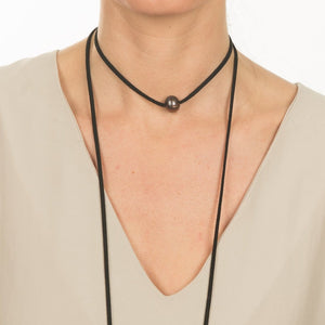 Brushed Metal Bead Necklace
