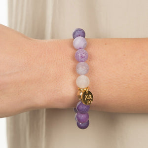 Lilac Stackable Bracelet (10 mm Beads)