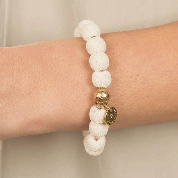 The Luna Bracelet in White Lava