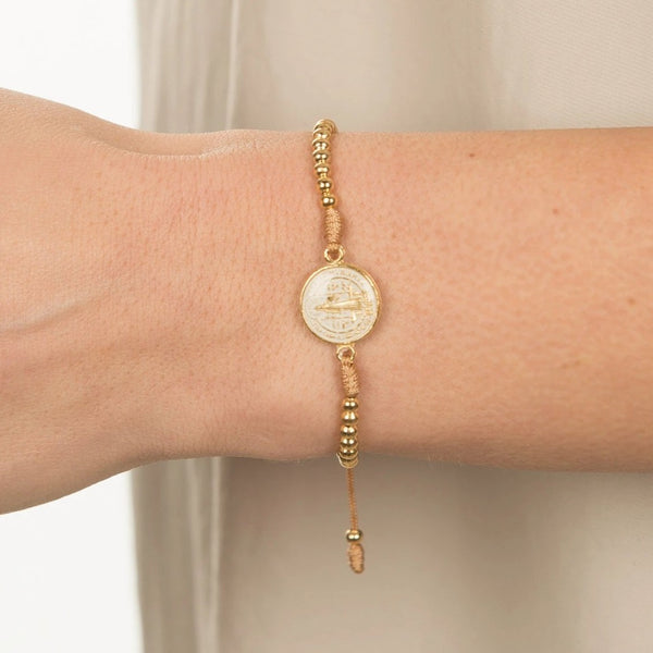 Medallion Wrap Bracelet