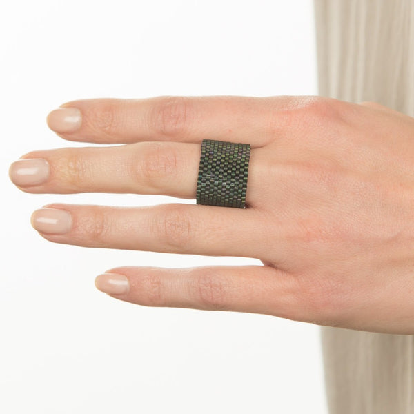 Metallic Cuff Ring