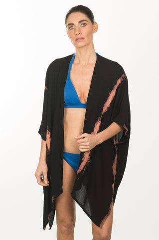 Tie-Dye Stripe Beach Wrap
