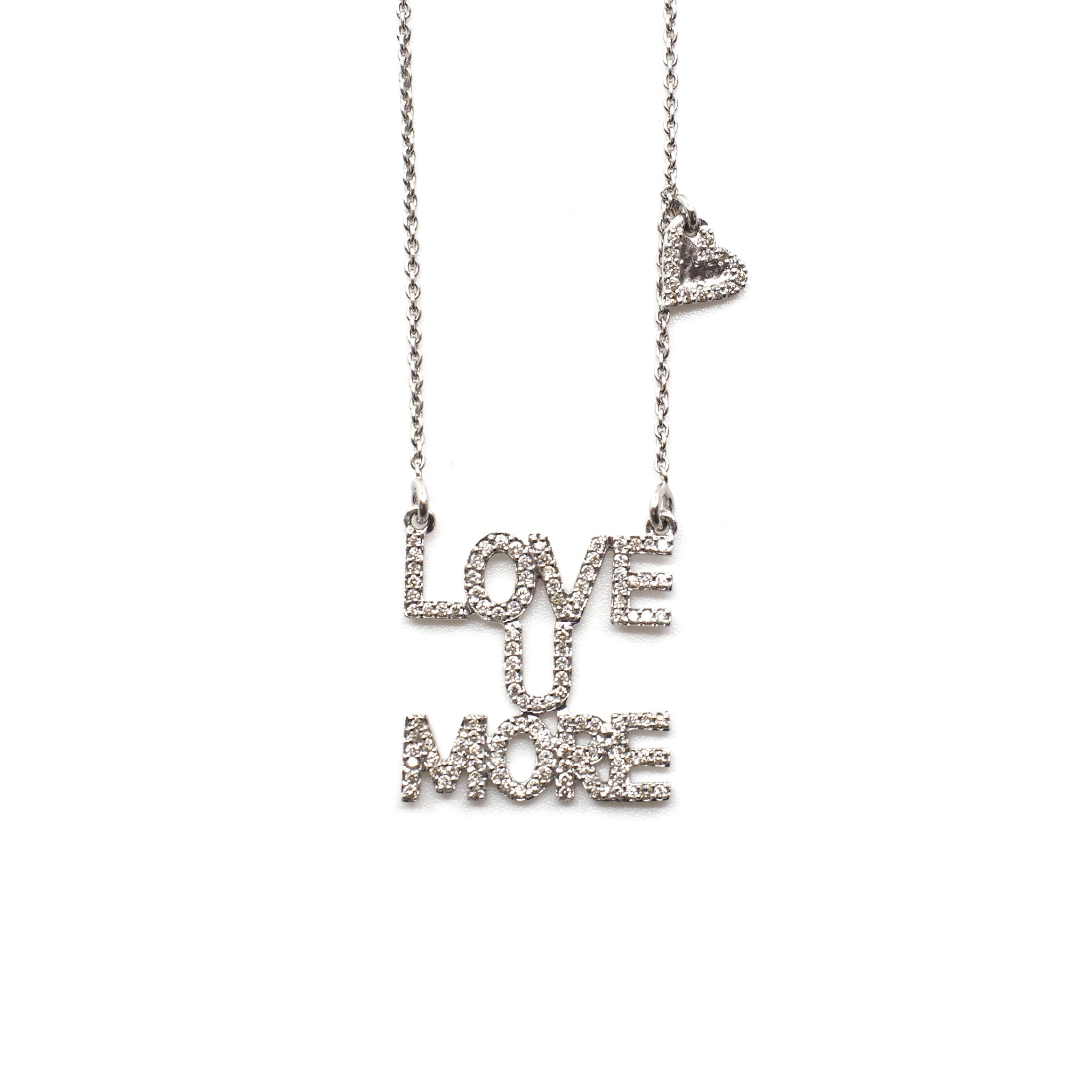 Love You More Sunrise Necklace in Diamonds & 14K White Gold