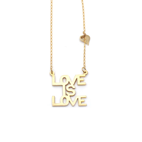 Love is Love Sunrise Necklace in 10K & 14K Gold