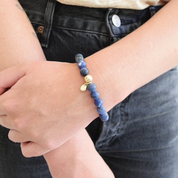 The Luna Bracelet in Midnight Blue
